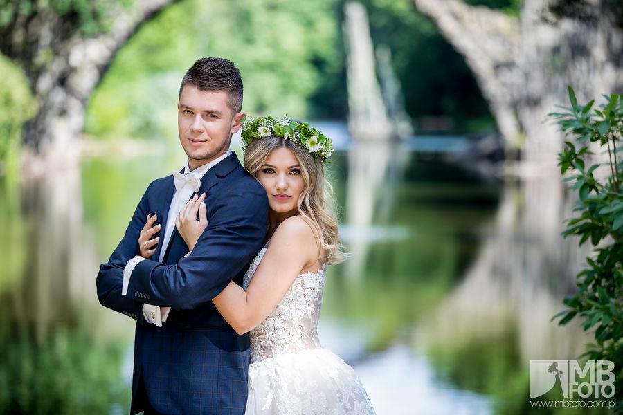 Justyna i Piotr plener 4 Justyna i Piotr | plener ślubny | zamek Bad Muskau | Most Rakotza w Kromlau