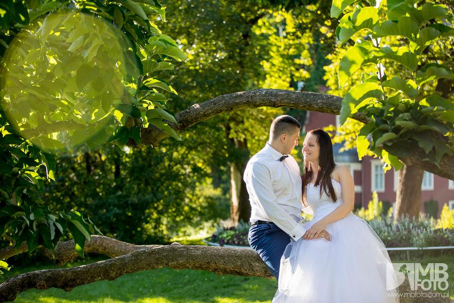 Marta i Szymon plener 100 Marta i Szymon | plener ślubny | zamek Bad Muskau | Most Rakotza w Kromlau