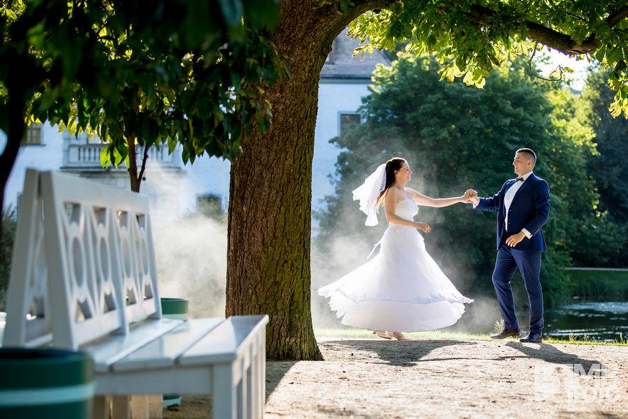 Marta i Szymon plener 110 Marta i Szymon | plener ślubny | zamek Bad Muskau | Most Rakotza w Kromlau