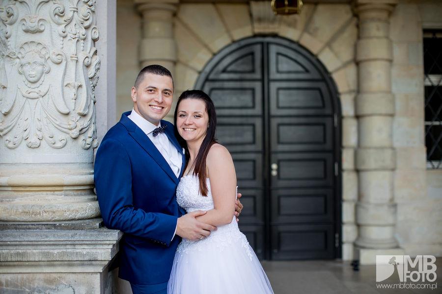 Marta i Szymon plener 156 Marta i Szymon | plener ślubny | zamek Bad Muskau | Most Rakotza w Kromlau