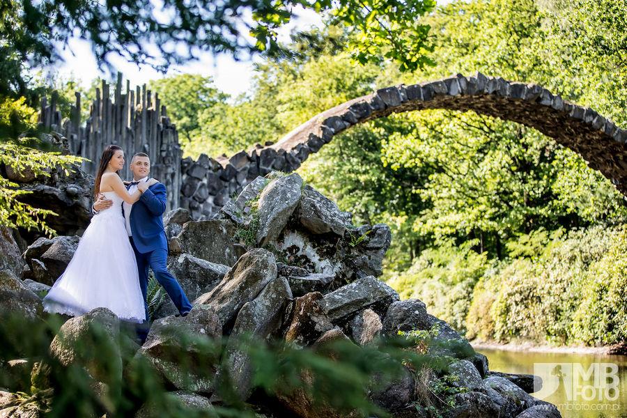 Marta i Szymon plener 43 Marta i Szymon | plener ślubny | zamek Bad Muskau | Most Rakotza w Kromlau