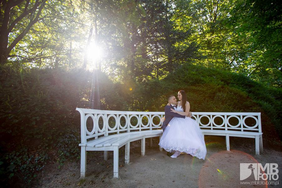 Marta i Szymon plener 83 Marta i Szymon | plener ślubny | zamek Bad Muskau | Most Rakotza w Kromlau