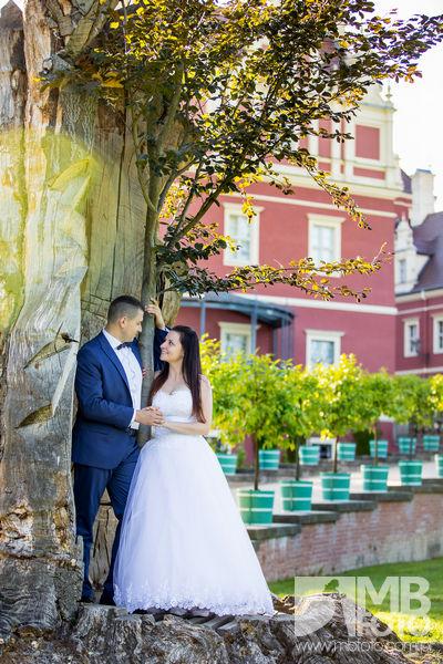 Marta i Szymon plener 96 Marta i Szymon | plener ślubny | zamek Bad Muskau | Most Rakotza w Kromlau